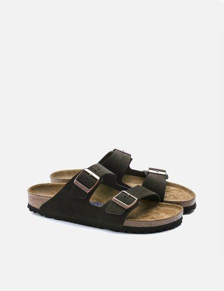 Birkenstock Arizona Suede Leather Regular Sandals - BROWN