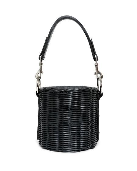 Wicker Wings Lu Wicker Bucket Bag - Black