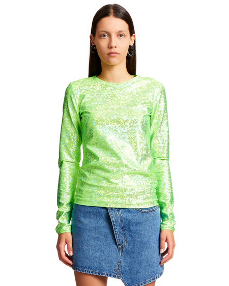 Saks Potts Saya Shimmer Blouse - Green
