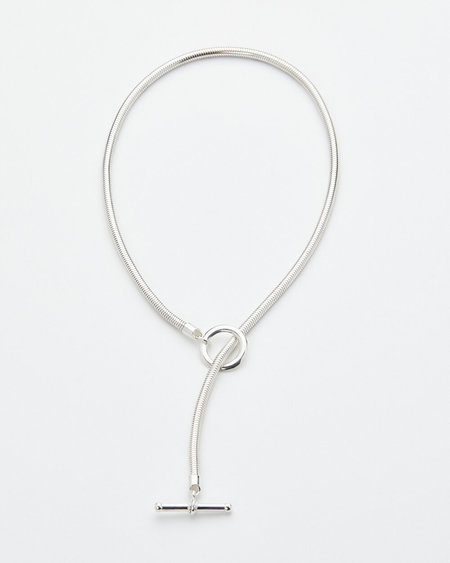 Luz Oritz Vale Chain Toggle Necklace - Sterling Silver