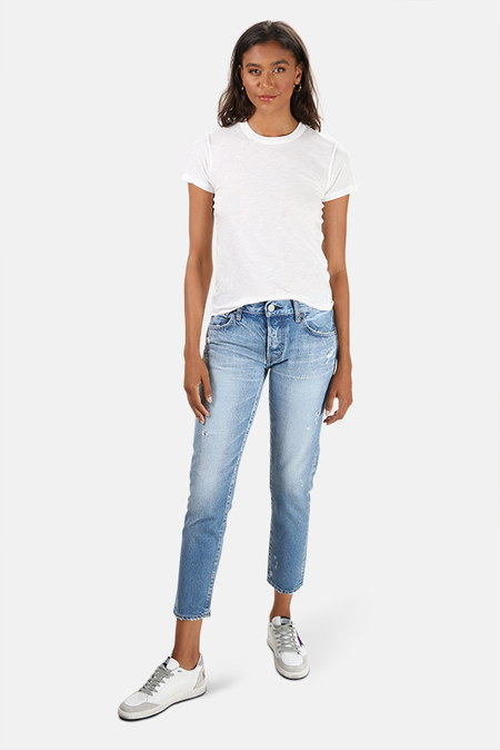 Moussy Magee Tapered Jeans - Light Blue