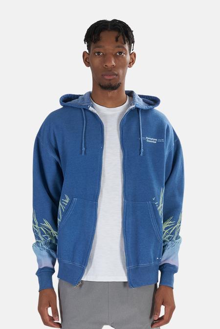 Blue&Cream Beach Gradient Hamptons Hoodie Sweater - Heather Blue
