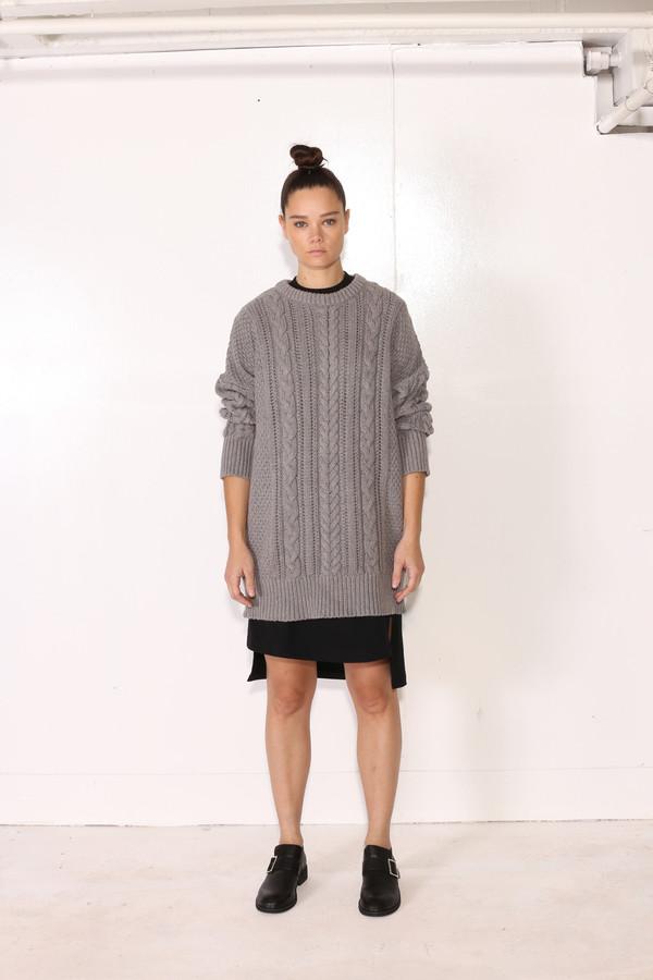 Unisex Intentionally Blank BACOPA SWEATER Grey