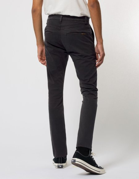 Nudie Jeans Slim Adam Chino - Black