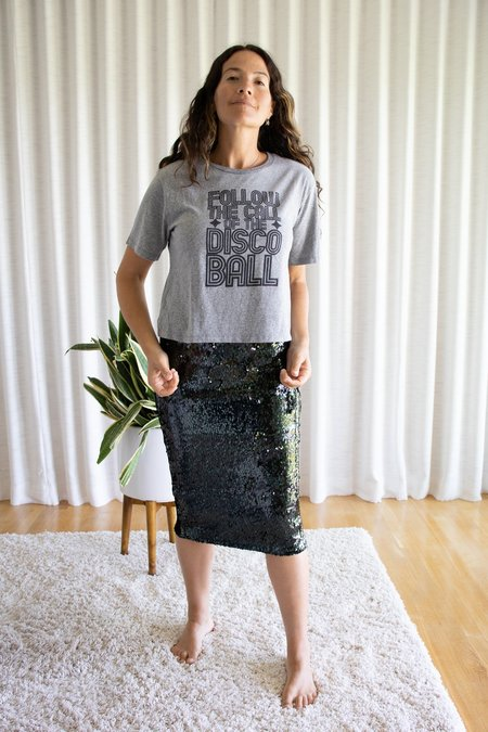 Le Superbe Discoball T Shirt - Heather Grey
