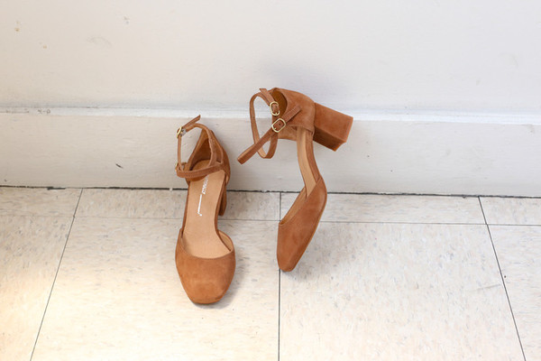 Intentionally Blank HOLLY Cognac Suede