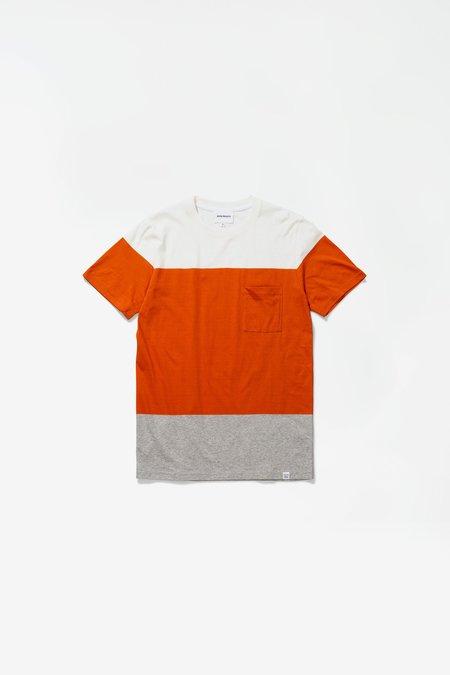 Norse Projects Niels colour block - golden orange