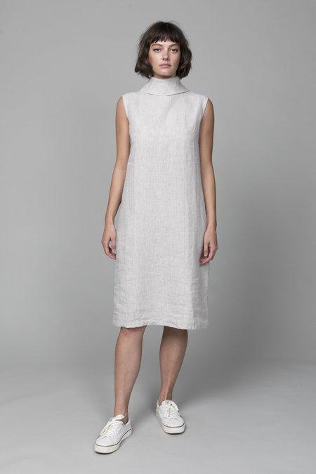 Pipsqueak Chapeau High Collar Dress - Natural