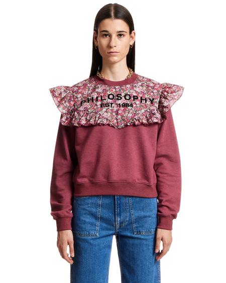 Philosophy by Lorenzo Serafini Wildflowers Sweatshirt - Dark Pink