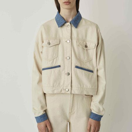 Just Female Sika Denim Jacket - Off White