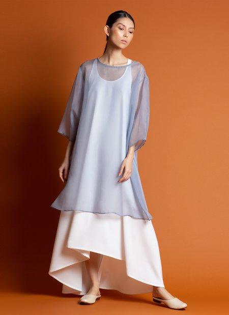KAAREM Grain Organza Silk Dress - Taro