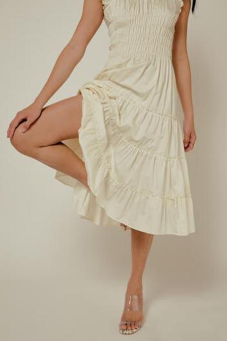 Lisa Says Gah Agatha Midi Dress - Ivory