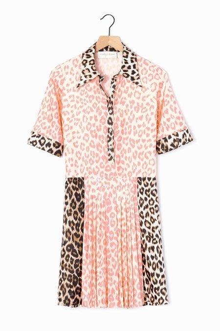 La Prestic Ouiston Shibuya Dress - Rose/Natural Leopard