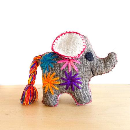 kids Made Solid Handmade Stuffed Elephant