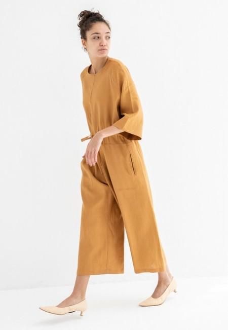 No.6 Store Ida Linen Jumpsuit - Toast