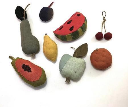 Kids Shop Merci Milo 8 pcs. Fabric Fruits Toy Set