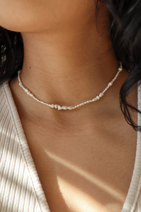 Kara Yoo Delphina Freshwater Pearl Necklace - Gold Vermeil