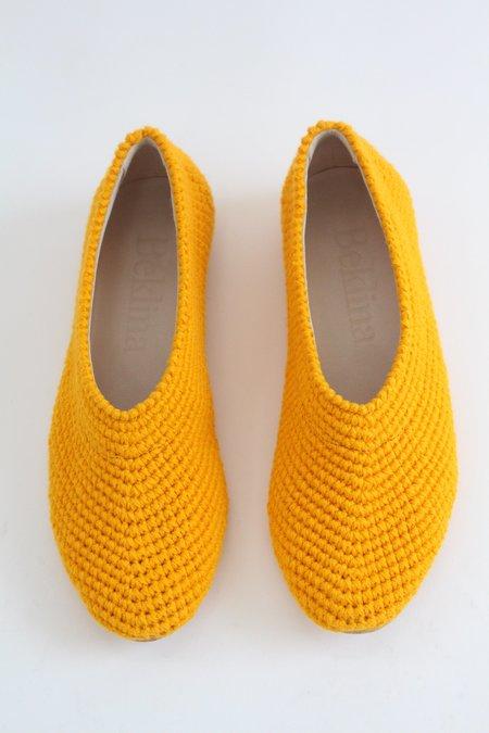 Beklina Crochet Ballet Flats - Turmeric