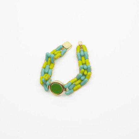 A. Carnevale Glass Bead Bracelet in Green