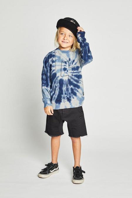 Kids Munster Spinner Sweater - Navy Tye Dye