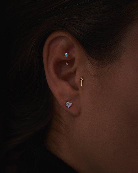 Pamela Love Piercing Gravitation Hook earrings - 14k yellow gold