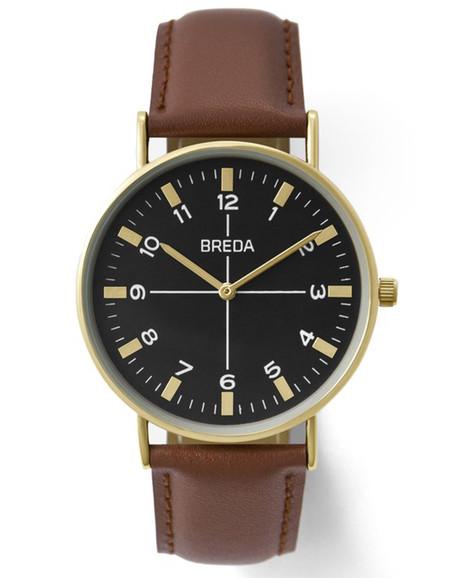 Breda Belmont Watch Gold Brown