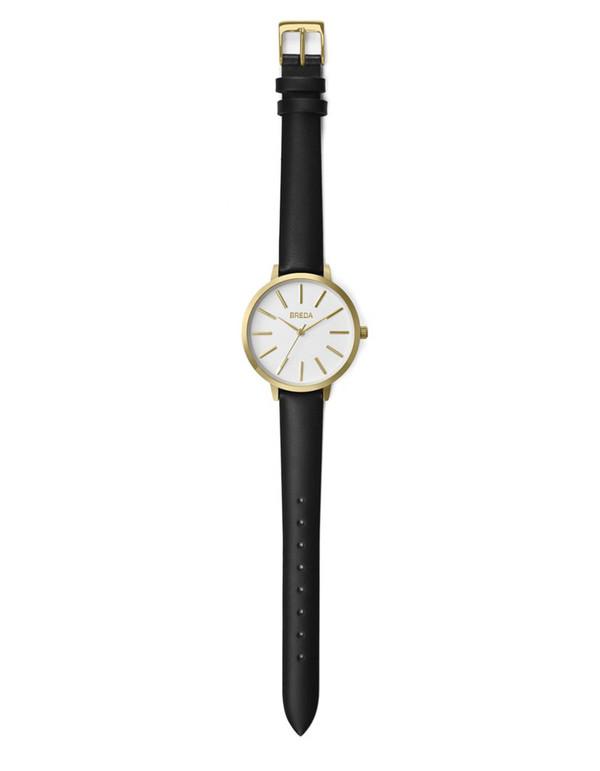 Breda Joule Watch Gold Black