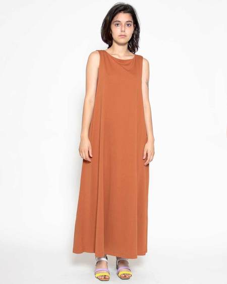 Persons Cassidy Sleeveless Midi Dress - Carrot