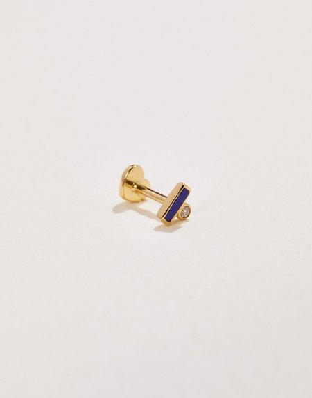 Pamela Love Bar Dot Stud - 14k gold