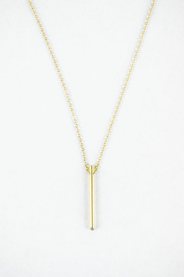 Still House White Diamond 14K Gold Ossu Necklace