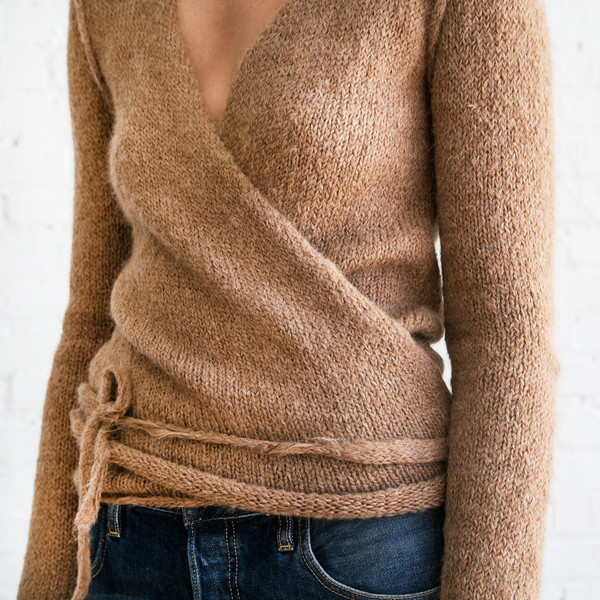 A Detacher Tiara Wrap Sweater