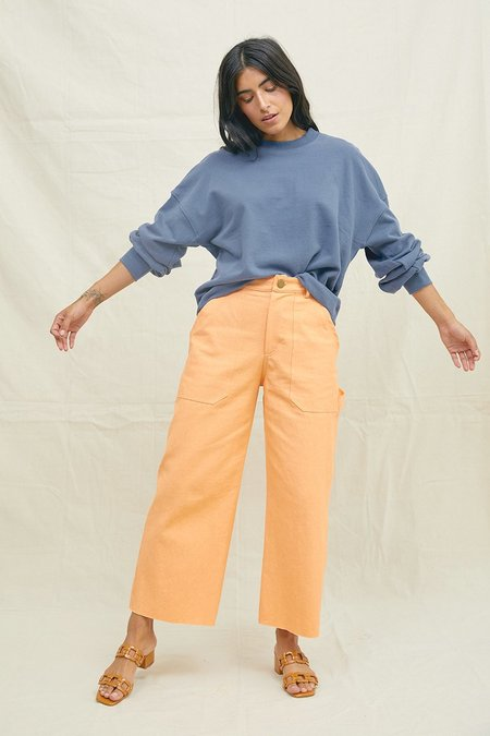 BACK BEAT RAGS Hemp Utility Pants - Tangerine