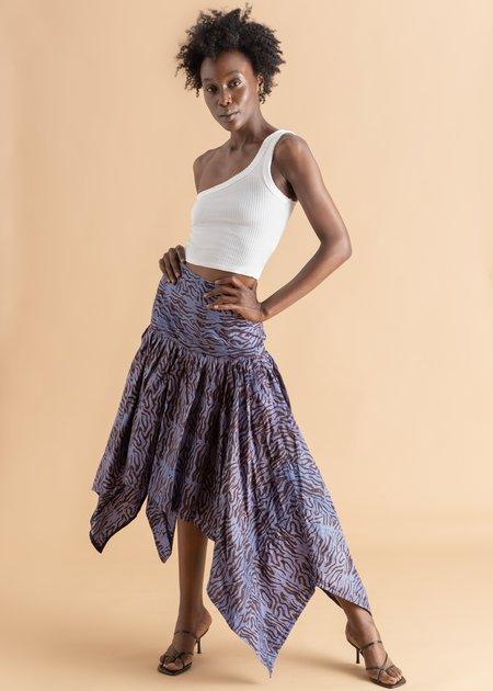 Abiola Olusola Adire Asymmetric Skirt