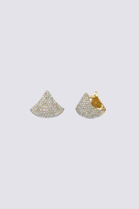 Gabriela Artigas Pave Small Apse Earrings - 14K Yellow Gold