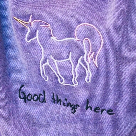 Kids Anchors-n-Asteroids Good Things Here Sweats - Lavender