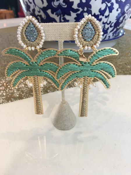 Mercedes Salazar Palm Tree Earrings