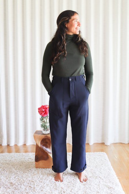Mijeong Park Workwear Trousers -  Navy