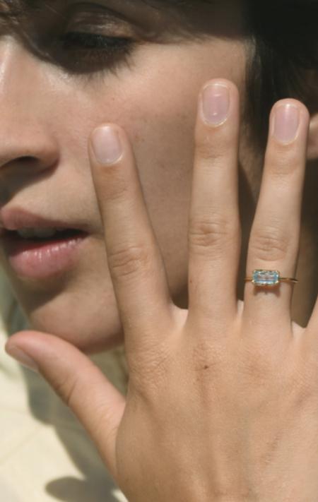 Beatriz Palacios Ring - Blue Topaz/Pearl