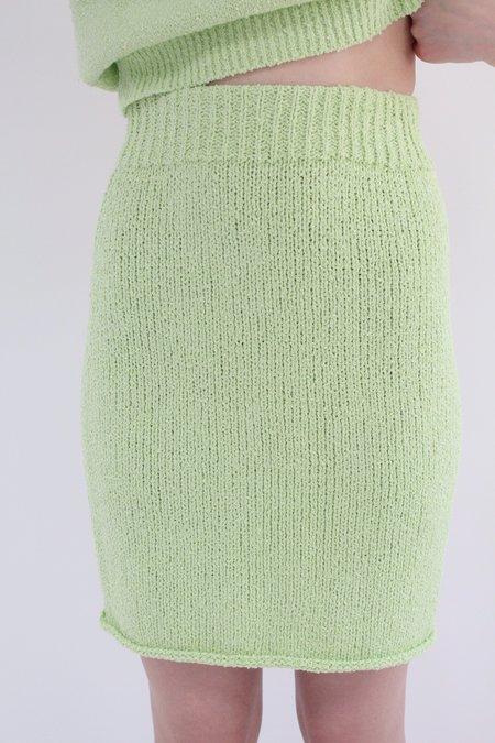 Beklina Bouclé Knit Skirt - Mint
