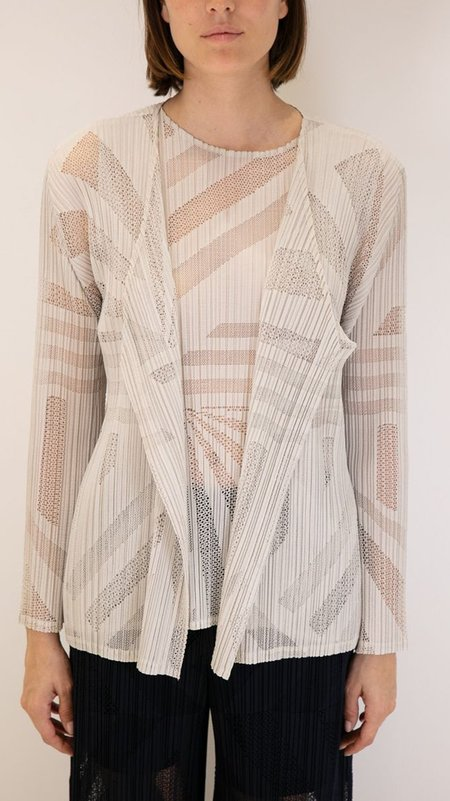 Issey Miyake Pleats Please Sonority Cardigan - Grey