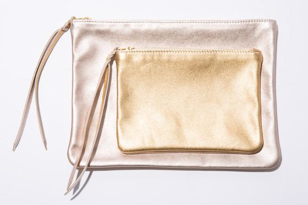 moses nadel Metallic Large Pouch