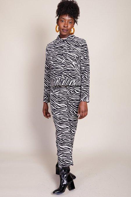 No.6 Claudia Jacket - Black/White Zebra