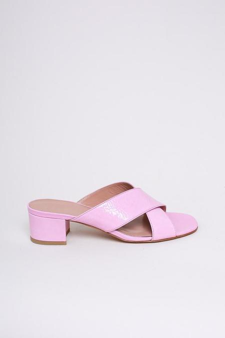 Maryam Nassir Zadeh Lauren Slide - Pink Crinkle Patent