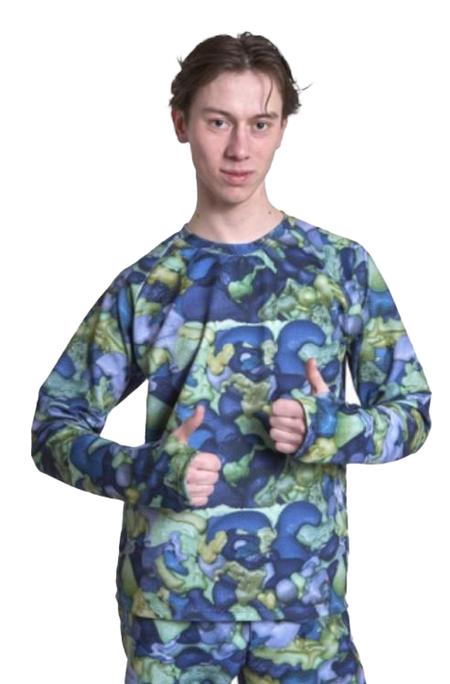 JULIAN ZIGERLI Thumbs Up Sweater - Camo Foam