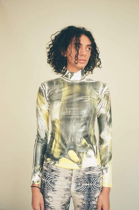 Cormio Marbled Turtleneck Tee