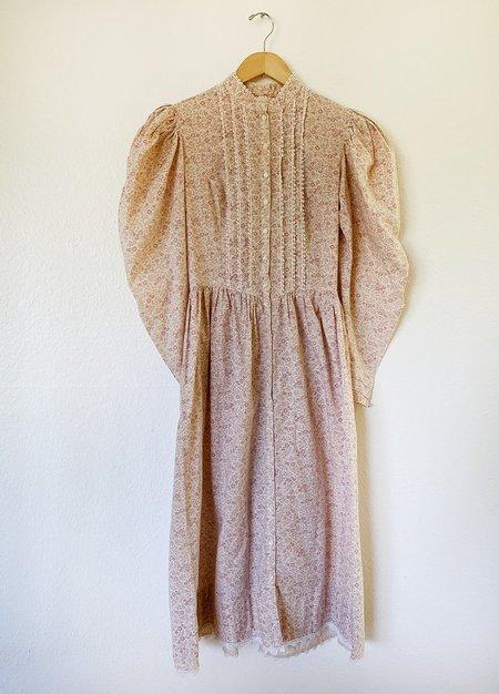 Vintage Puff Sleeve Prairie Dress