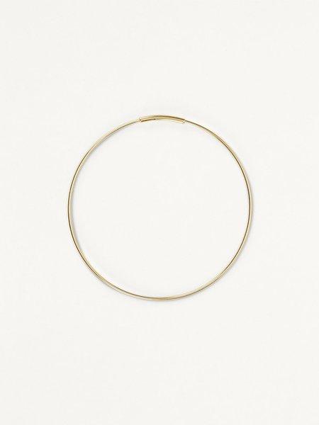 kathleen whitaker medium hoops - 14k gold