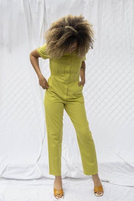Paloma Wool Ada Jumpsuit - Green Olive
