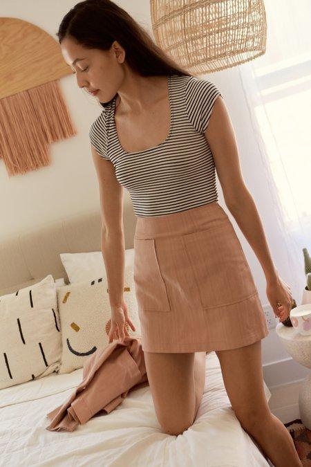 Whimsy + Row Teagan Skirt - Light Peach