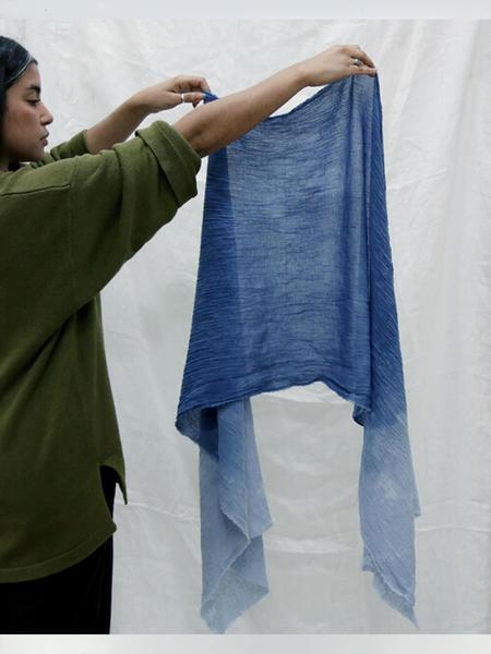 ROSEMARINE TEXTILES Cotton Gauze Scarf - Indigo